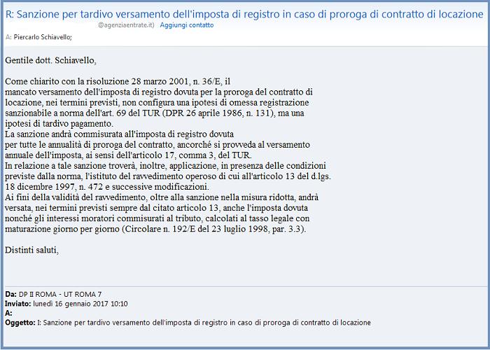 Altri U.T. (vedi Mail Seguente), Al Contrario, Calcolano La Sanzione  Parametrata Ai Canoni Pattuti Per Una Sola Annualità.